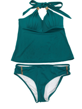 Load image into Gallery viewer, Victoria's Secret Forever Push-Up Tankini Emerald Green Swimsuit Small NWOT
