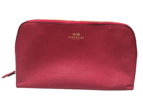 Coach Red Cosmetic Case / Makeup Bag EUC