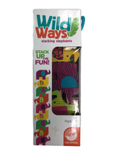 Load image into Gallery viewer, MindWare Wild Ways Stacking Elephants NIP