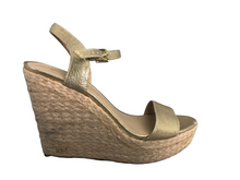 Load image into Gallery viewer, Michael Kors Jill Platform Espadrille Wedge Sandals Size8