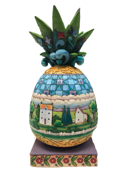 Jim Shore 2006 Large Pineapple