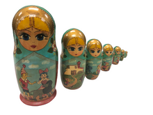 Load image into Gallery viewer, Vintage Rare 1993 Russian 6 Piece Nesting Dolls By Mockba Beautiful Hand Made
