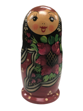 Load image into Gallery viewer, Russian Nesting Doll Set  Hand Painted/Signed 1993 5 Pieces