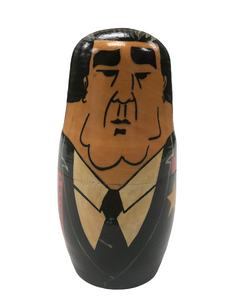 "Russian Nesting Dolls Folklore Art Gorbachev World Leaders 7.5"" Set of 5"