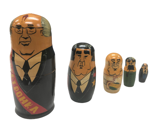 Russian Nesting Dolls Folklore Art Gorbachev World Leaders 7.5