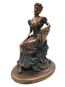 Austin Sculpture Statue Sitting Victorian Lady Women