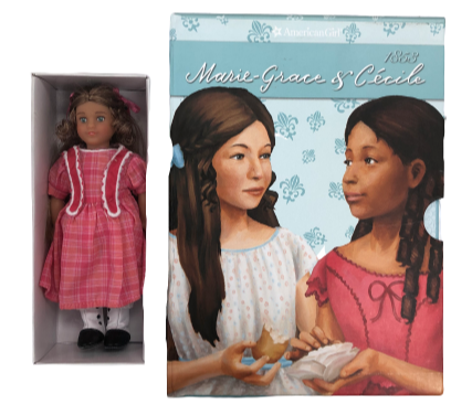 American Girl Marie-Grace and Cecile 6 Books, Marie Grace Mini Doll and Mini Game