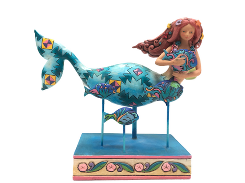 Jim Shore Mermaid Fish Friends in the Sea 4007248 Retired 2006