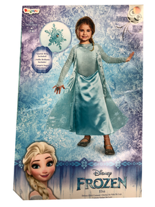 Disney Frozen Elsa~ Deluxe Costume with Sparkle Ring Disguise~ 98547K~Child/Girls Medium (7-8)~NWT
