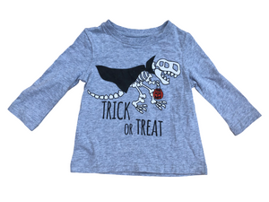Glow in the Dark Gray T-Rex~Tee T-Shirt Top~ Halloween~ Infant12 Months ~ NWT
