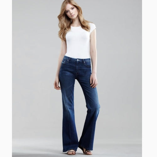 MOTHER ~The Mellow Drama Flare Stretch Jeans ~ Women 31~ NWT
