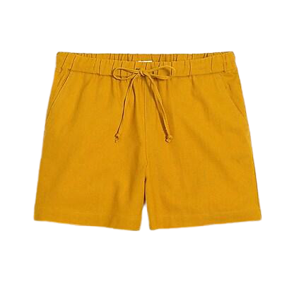 J Crew Factory Golden Yellow Side-Tie Pull On Shorts Size Small NWT