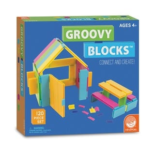 Groovy Blocks Building Set (120 pc Set) by MindWare