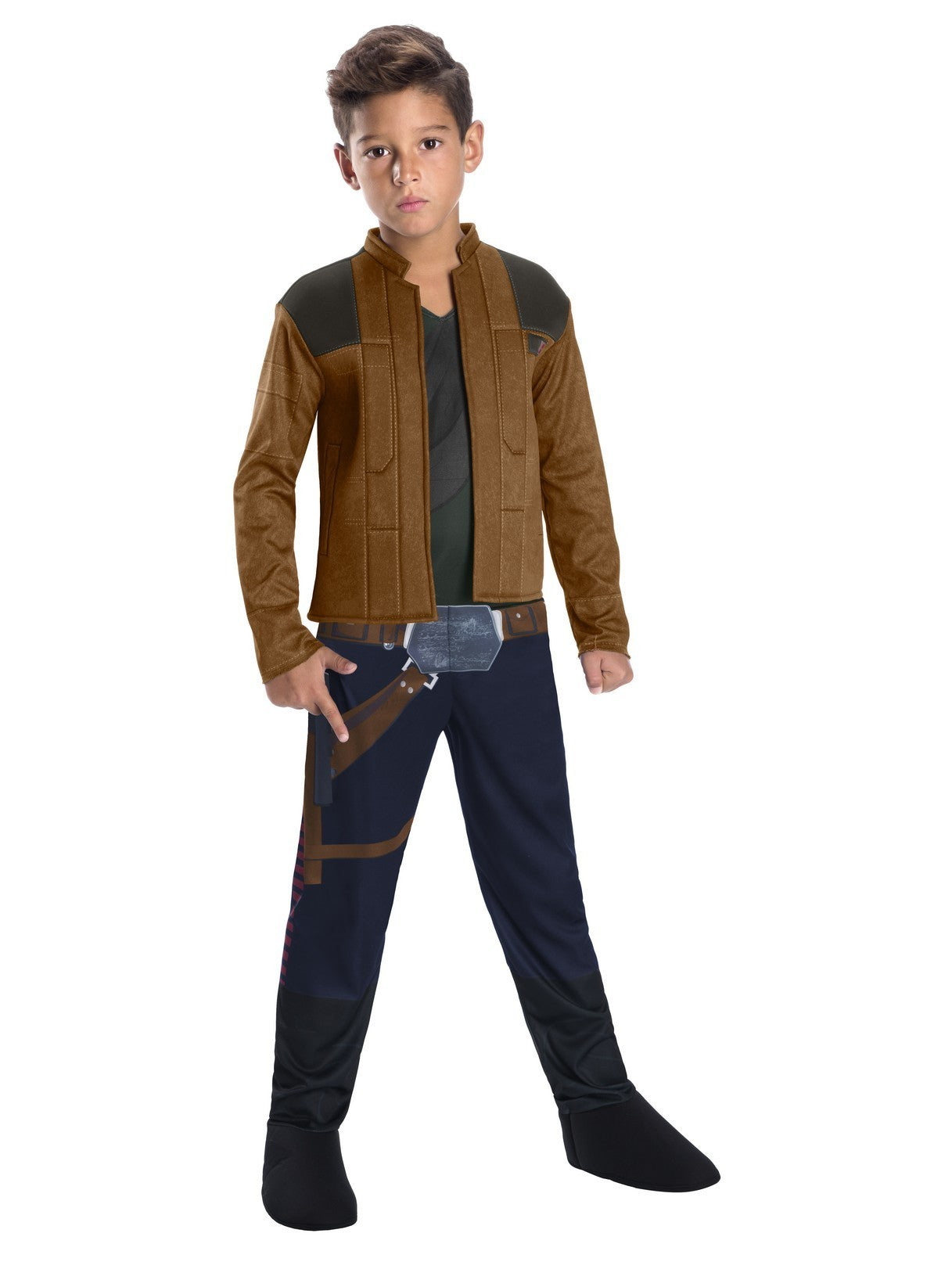 Disney Star Wars  ~ Han Solo Jump Suit Halloween Costume ~ Child/Boys Size Medium (8-10) ~By Rubies ~ New