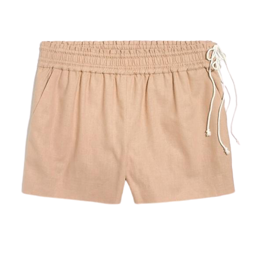 J Crew Factory Khaki Side-Tie Pull On Shorts Size Small NWT