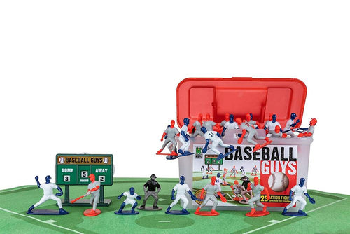 Kaskey Kids Baseball Guys Figures Toys Complete Set 25 Pieces Carrying Case