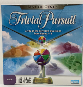 Trivial Pursuit BEST OF GENUS EDITION Board Game - Brand NEW- Sealed
