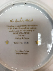 Danbury Mint Presidential White House China JAMES MADISON Limited Edition