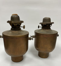 Load image into Gallery viewer, Vintage Brass Oil Swivel Lamp Lantern Ship Maritime Nautical Set of 2