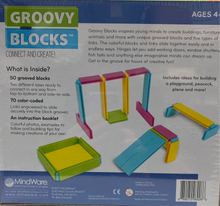 Load image into Gallery viewer, Groovy Blocks Building Set (120 pc Set) by MindWare