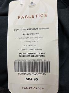 Fabletics Salar Statement Powerlite 2.0 Black Legging Size Small NWT