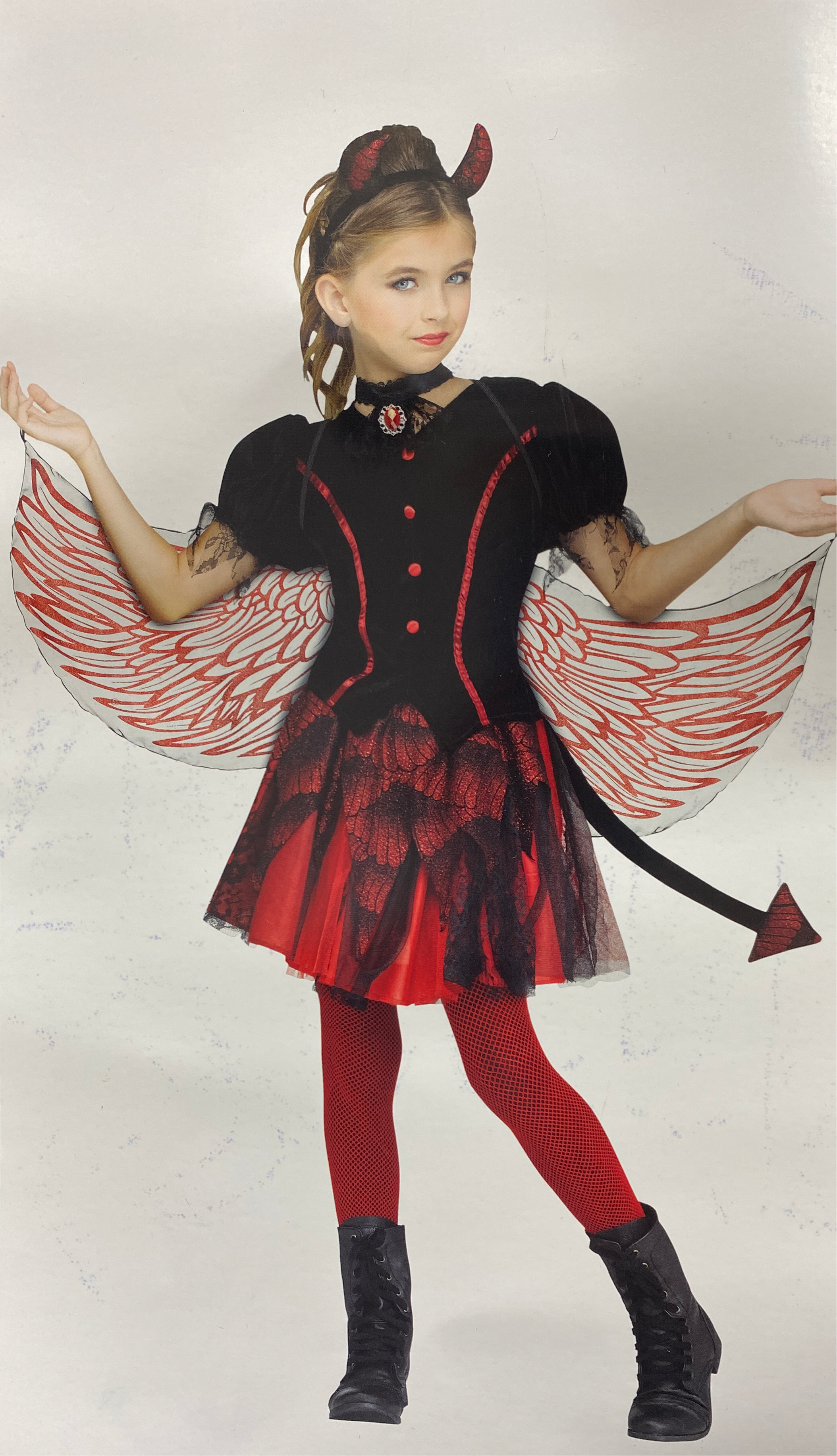 Halloween Fallen Angel Costume ~Girls/Child/Kids Large ~ NWT