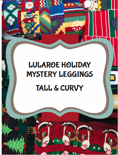 LuLaRoe Mystery Leggings ~Christmas Holiday ~ TC2 Plus Size Tall and Curvy - NWT