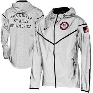 Nike 2012 Olympic Team USA Medal Stand Podium Reflective Wind Runner Jacket Medium RARE