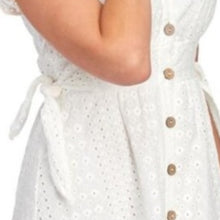 Load image into Gallery viewer, June & Hudson Eyelet Button Front Dress NWT Small