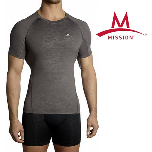 Mission VaporActive Performance Compression Short Sleeve Shirt/Top - XL 38/40
