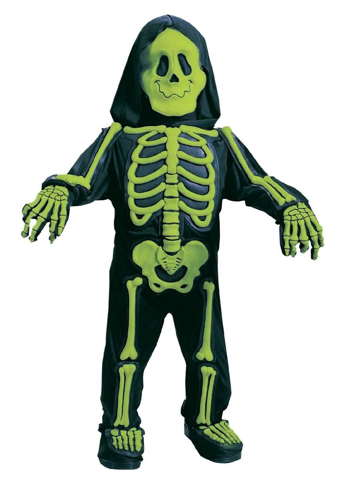 Skelebones~ Neon Green Skeleton ~Toddler/Child Halloween Costume ~ Size Small (3T-4T) ~ New!