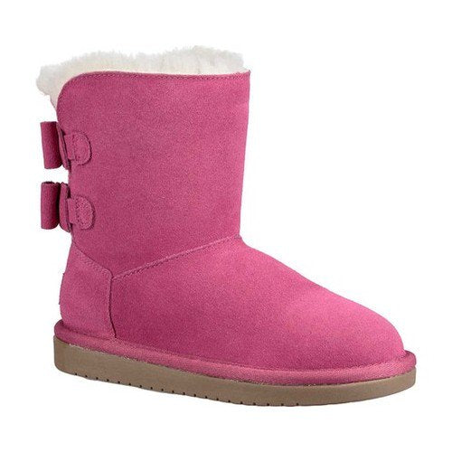 Koolaburra By UGG Little Girls Short Boots Attie Raspberry Rose Pink Kids Boot Size 13