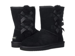Koolaburra By UGG  Girls Short Boots Victoria Black Kids Boot Size 1