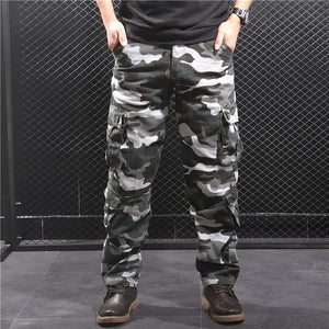 Men Casual Camo Multi Pockets Military Tactical Pants