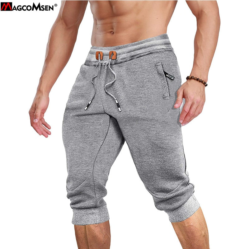 Men's Joggers Sweatpants 3/4  Casual Gym Fitness Trousers