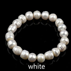 8mm Fashion Women Pearl Bracelet Charm Chain Natural Freshwater Pearl Beads Bracelet for Women Jewelry Gift Pulseras Mujer Moda