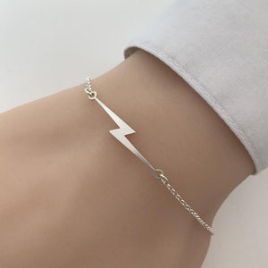 Cxwind Stainless Steel Lightning Bolt Bracelets for Women Lightning Pulseira Feminina Lover's Engagement Chain Brcelet Jewelry