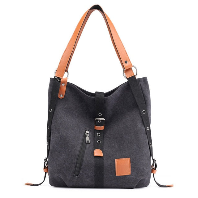 Women Large Capacity Canvas Backpack