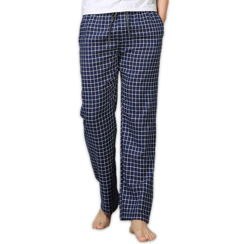 100% cotton sleep bottoms mens simple sleepwear pants