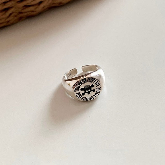 Foxanry 925 Sterling Silver Adjustable Rings  Birthday Party Jewelry Gifts