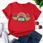 Women T Shirt Short Sleeve Cotton T-shirts Female CENTRAL PERK Printing Graphic Tees Women Plus Size Harajuku Shirts Top