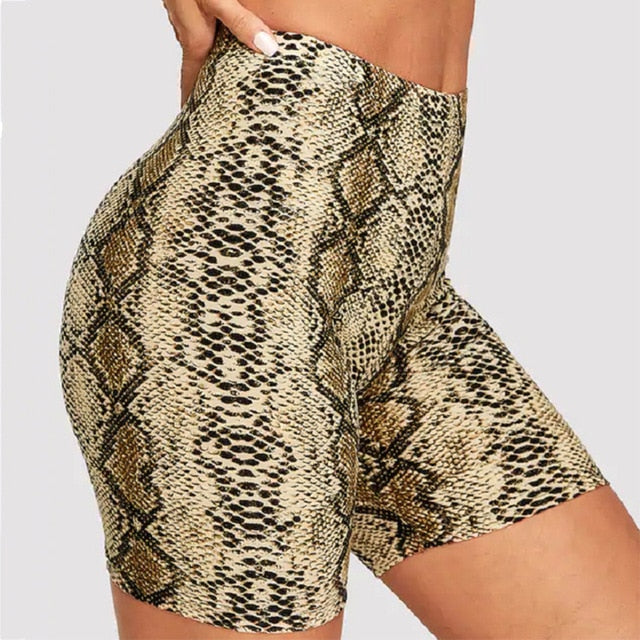 Fashion Leopard Print Women Shorts