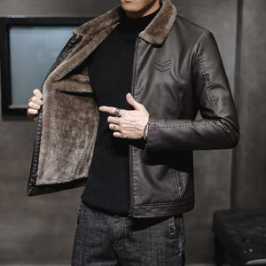 Thick Leather  Men's Jacket