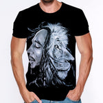 Men Bob Marley Short Sleeve Print 3d Tees