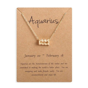 Ailodo Men Women 12 Horoscope Zodiac Sign Pendant Necklace Aries Leo 12 Constellations Jewelry Kids Christmas Gifts ожерелье