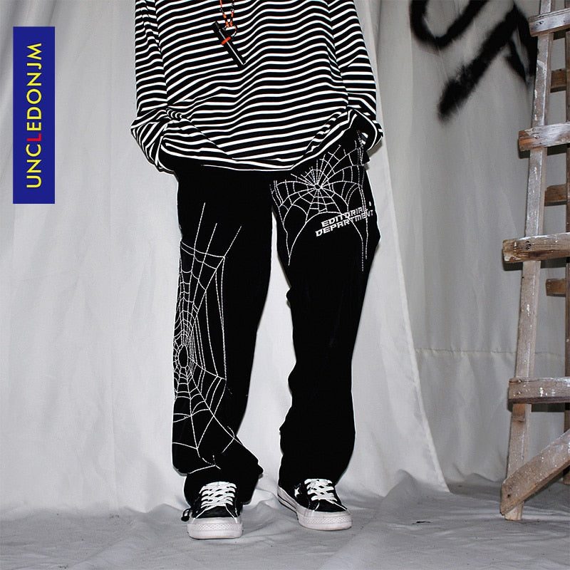 Spider embroidery Baggy Harem Pants