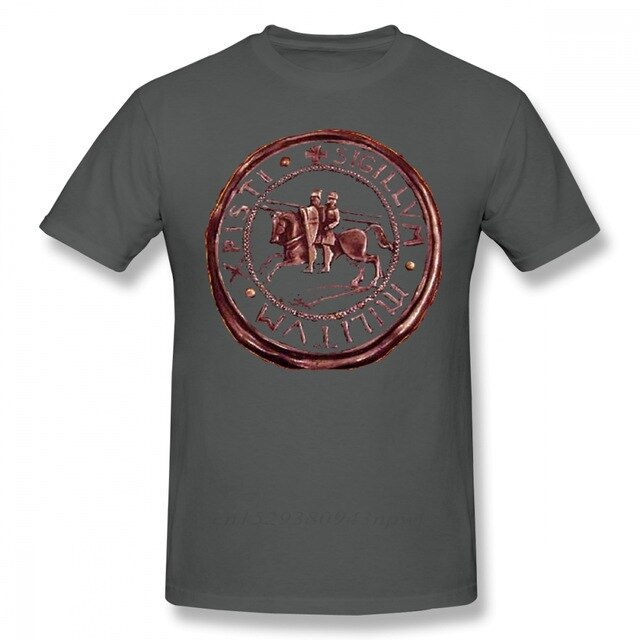 Knights Templar Seal Symbol Graphic 100% Cotton Tee Shirt