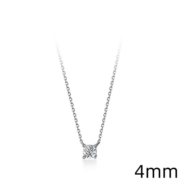 Geometric Cut Sparkling Zircon Pendant Necklace