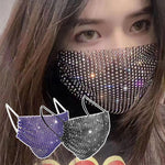 Elastic Fashion Jewelry Masks With Face Bandana