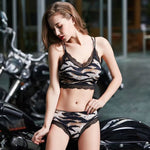 New  Women Sexy Lace Sports Bra Set